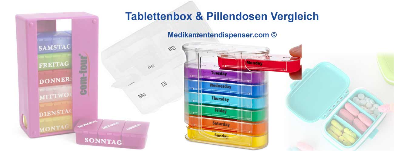 Tablettenbox für den Monat, 7 Tage, morgens abends, klein und groß Boxen für Tabletten und Pillendosen im Vergleich